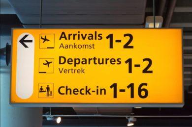 Аэропорт Амстердама Схипхол табло прилета и вылета