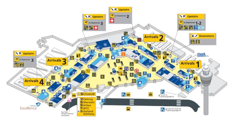 Схема аэропорта Амстердама