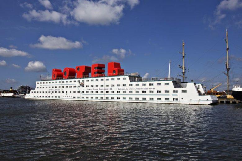 Отель в Амстердаме на корабле Botel