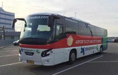 Автобус из аэропорта Эйндховен в Амстердам
