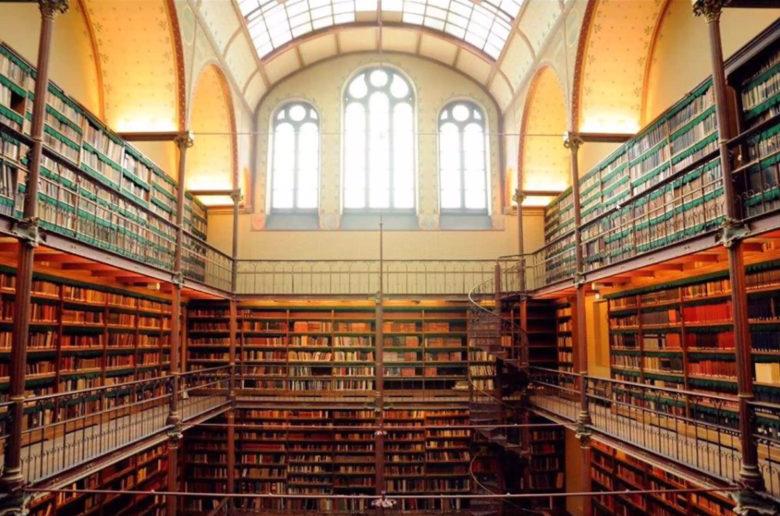 Библиотека в национальном музее Нидерландов Rejksmuseum